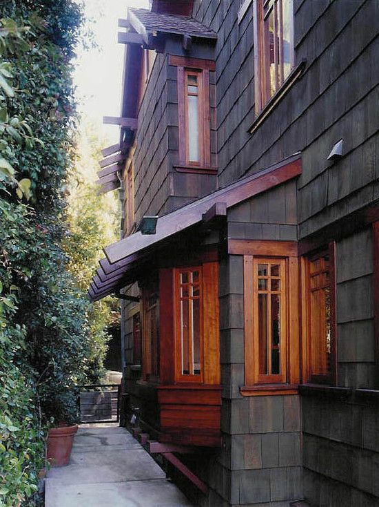 Cool Exterior Color And Texture Gorgeous Wood Window Trim And Interesting Window Panes