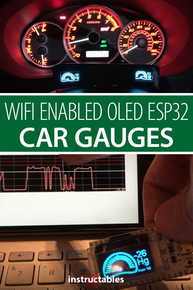 Wifi Enabled OLED ESP32 Car Gauges | Tech Projects | Car gauges, Pc