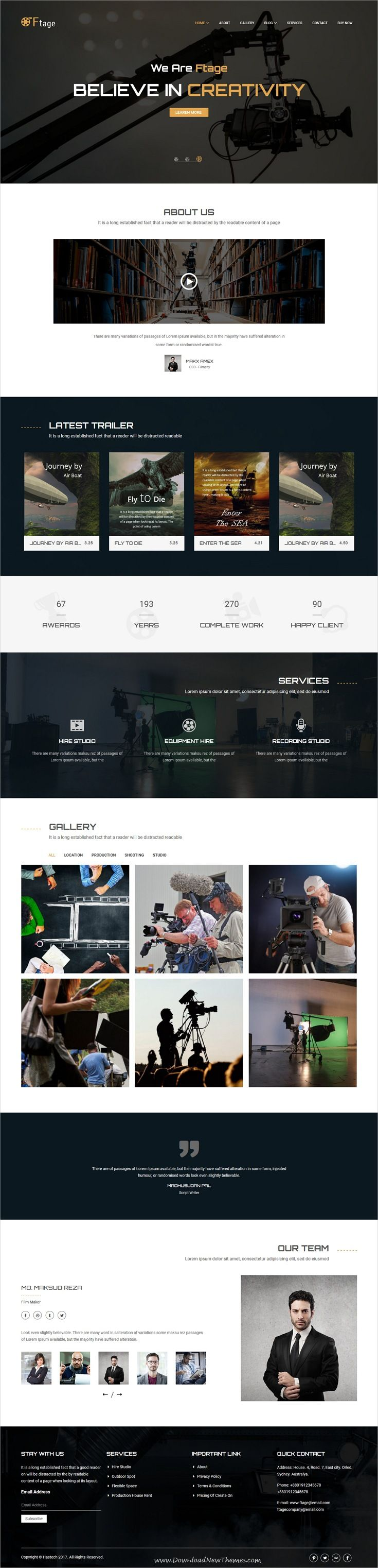 Ftage is clean and modern design 4in1 responsive wordpress theme ftage is clean and modern design 4in1 responsive wordpress theme for filmmakers film studios movie campaigns video production and marketing company maxwellsz