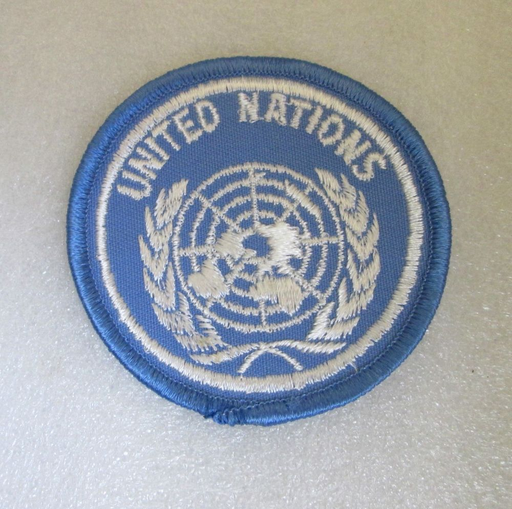 UNITED NATIONS PATCH! UN PEACEKEEPERS VINTAGE CANADA WORLD
