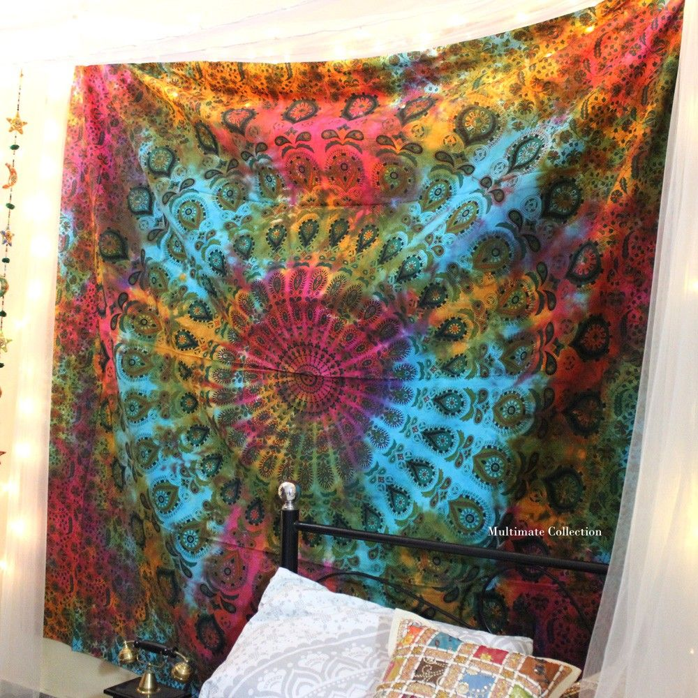 Add A Colorful Touch To Your Home Or Apartment By Hanging This Tie Dye  Tapestry.