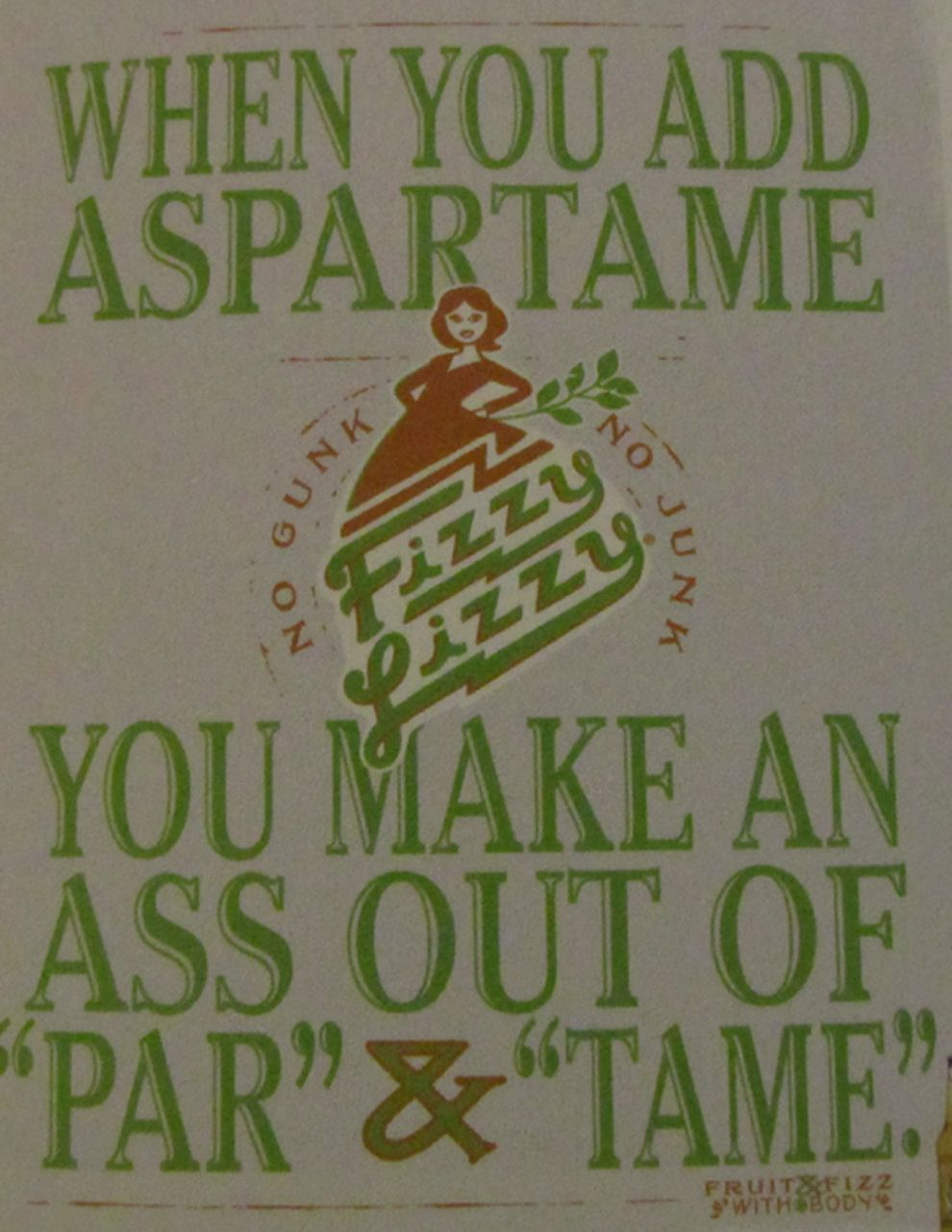 funny Aspartame poster #typography poster  Quick side note: DON'T CONSUME ASPARTAME!
