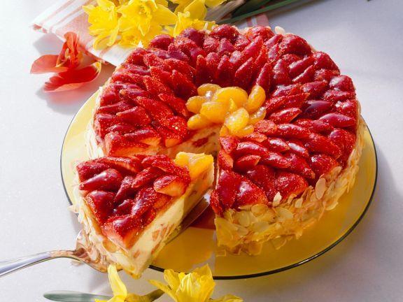 Biskuittorte mit Quarkcreme und Früchten ist ein Rezept mit frischen Zutaten aus der Kategorie Beerenkuchen. Probieren Sie dieses und weitere Rezepte von EAT SMARTER!