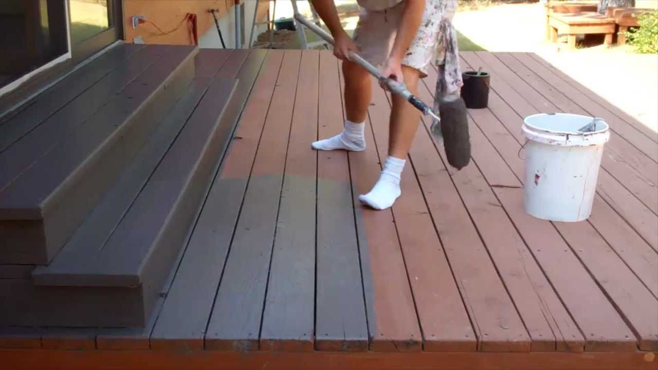 Painting deck tips really good porch pinterest Best black exterior wood stain