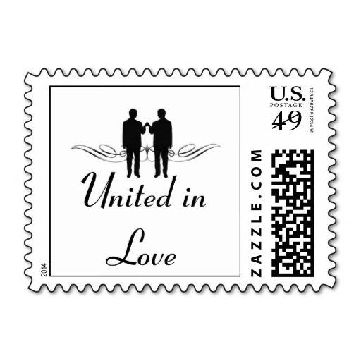 Black and White Elegance Groom Wedding Stamp