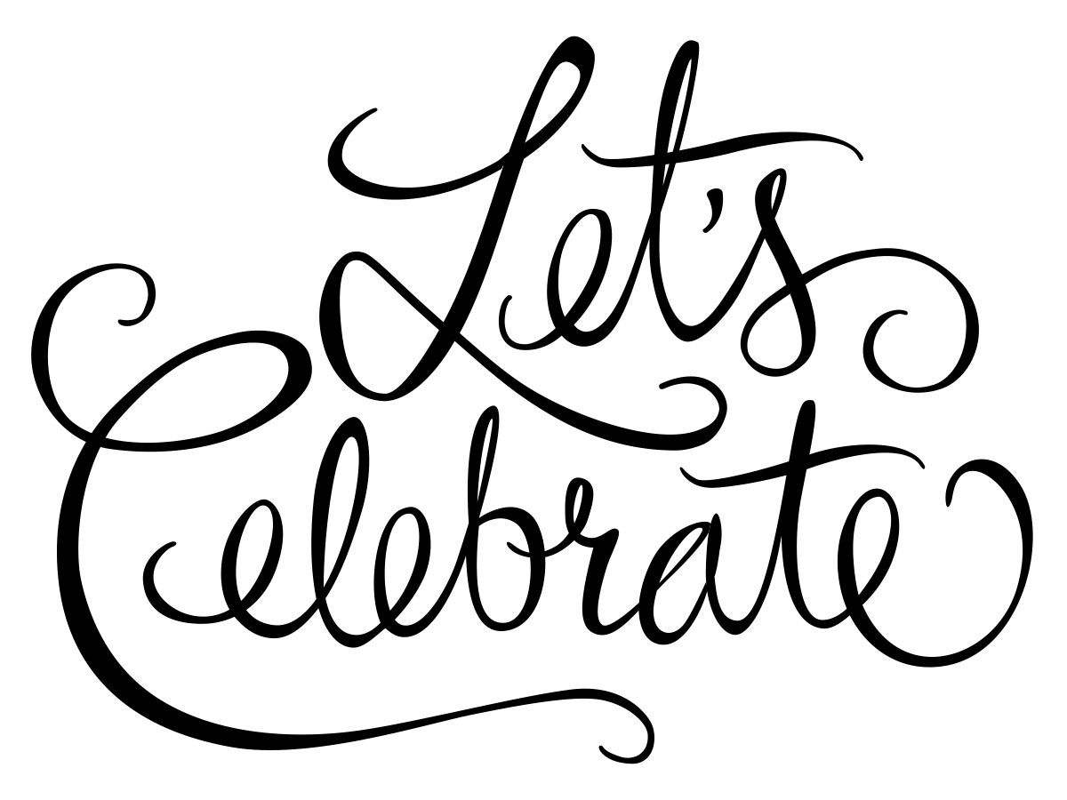 Lettering Lets Celebrate By Kim Martin