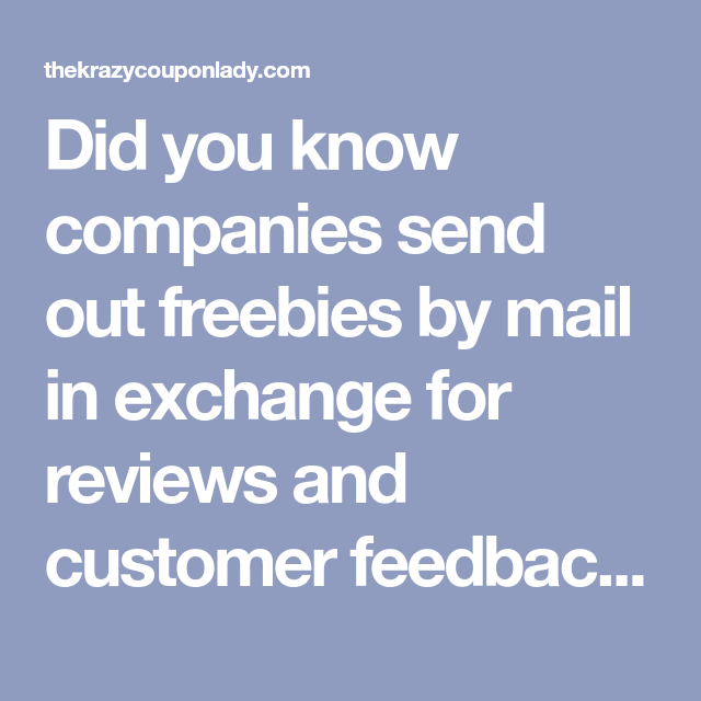 f8738797ca29ba28e9a60d08ed5966a2 - How To Get Free Stuff In Exchange For Reviews