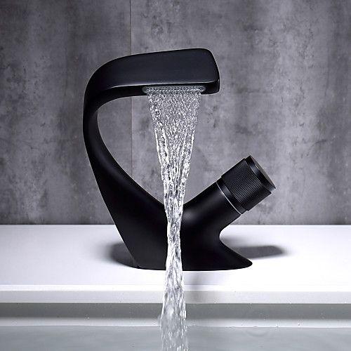 bathroom sink faucet waterfall chrome
