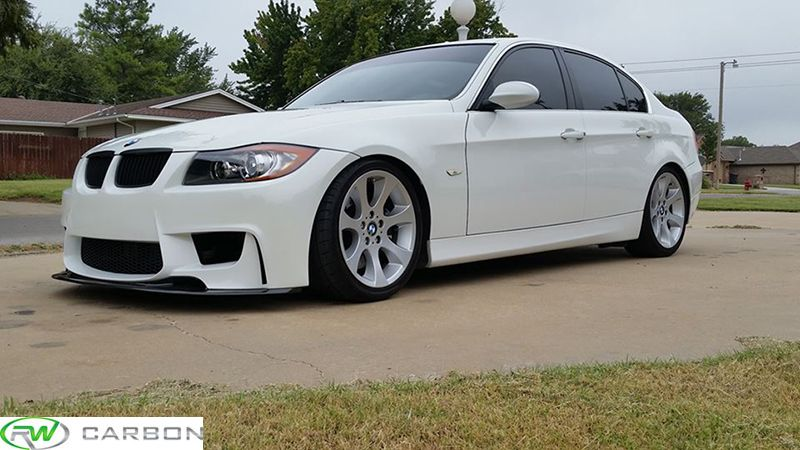Gary S Custom 2007 Bmw 335i With The 1m Style Front Bumper And Our Carbon Fiber Aero Front Lip Bmw Bmw E46 Sedan Bmw 320d