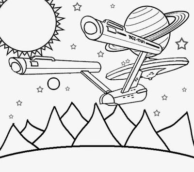 Planet And Space Solar System Coloring Pages Free School Learning