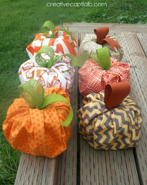 Capital B Super Fast and Easy Puffy Pumpkins dyi Pinterest - how to make homemade halloween decorations for kids