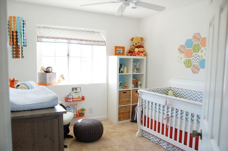 Babyzimmer in Weiß einrichten, aber mit Farbe dekorieren \u2013 50 Ideen