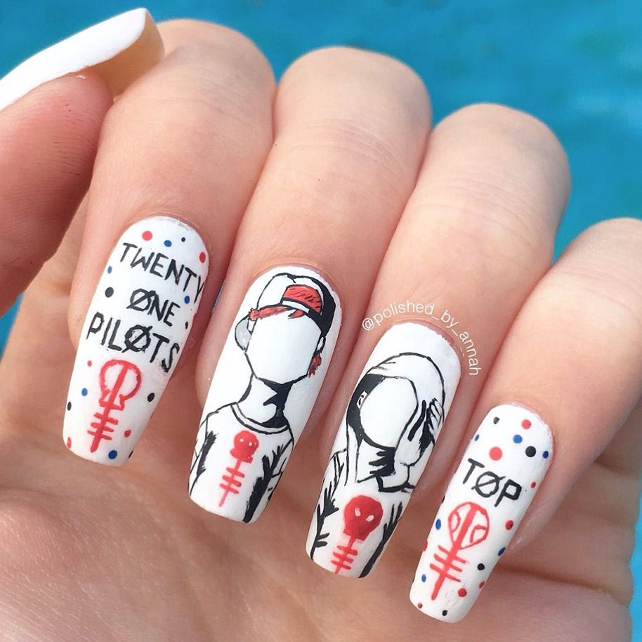 Twenty one pilots nails | My nails | Pinterest | Diseños de uñas ...