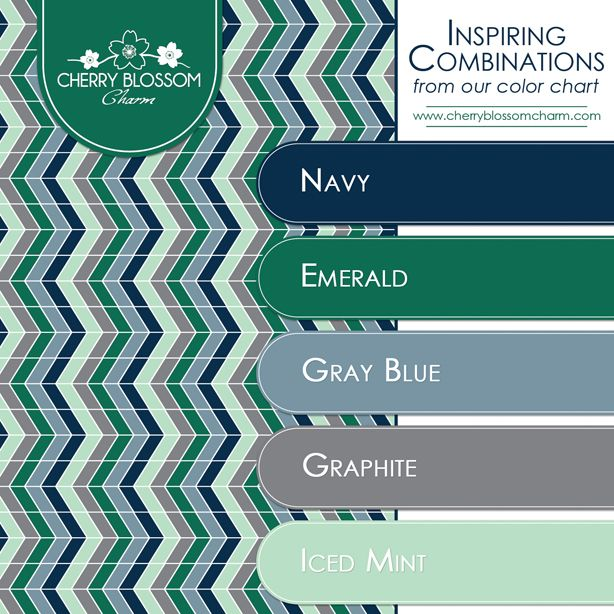 Color Combination For Winter Navy Gray Blue Emerald Mint Green
