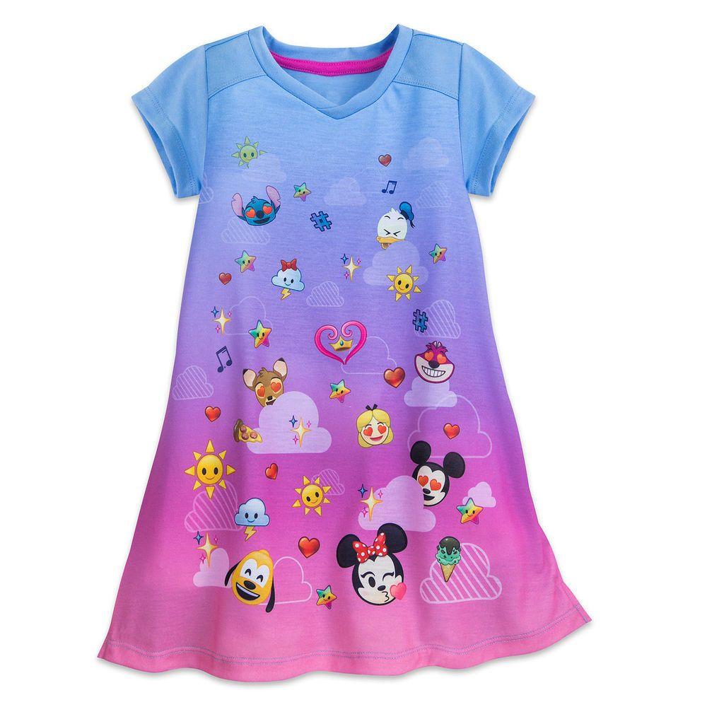 Emoji Nightgown For Girls Size 5/6 Disney #Disney