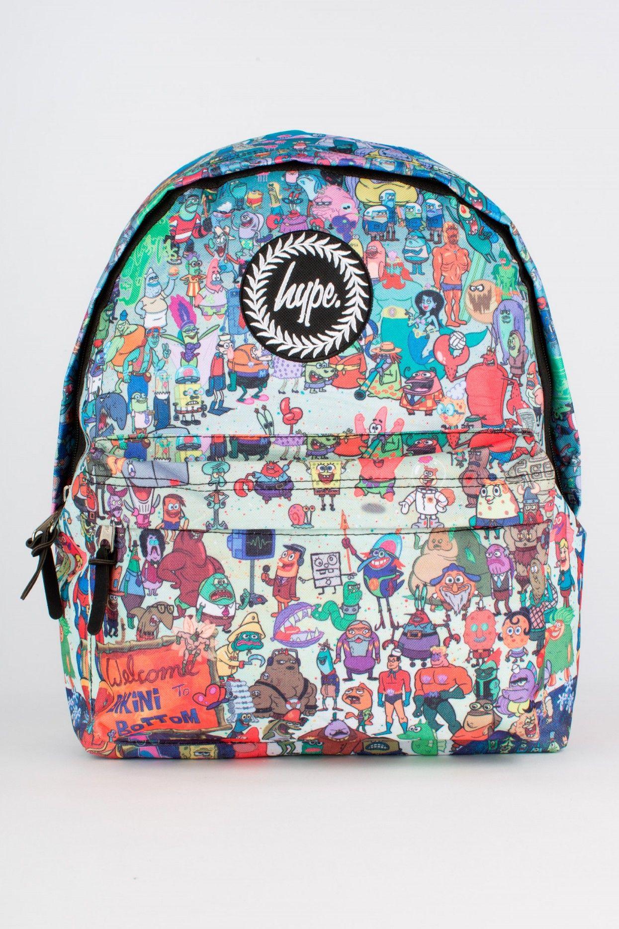 hype x spongebob everyone backpack spongebob squarepants