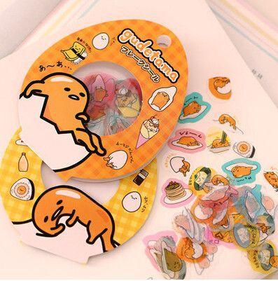 Sanrio Gudetama Egg Trendy 60 Piece Pack Label Stickers Scrap booking notebook laptop