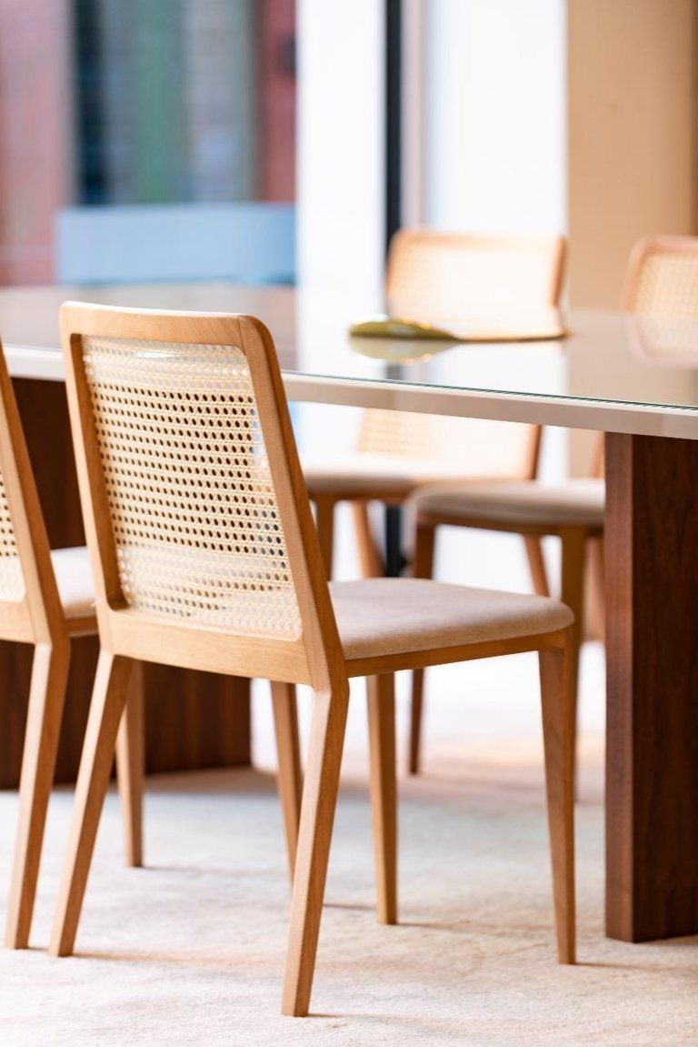Minimal Style Solid Wood Chair Textiles Or Leather Seatings Caning Backboard Solid Wood Chairs Wood Chair Dining Chairs