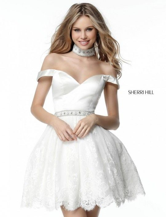 9647bdb3f40f Sherri Hill 51385 Short Party Dress with Matching Collar in 2019 ...