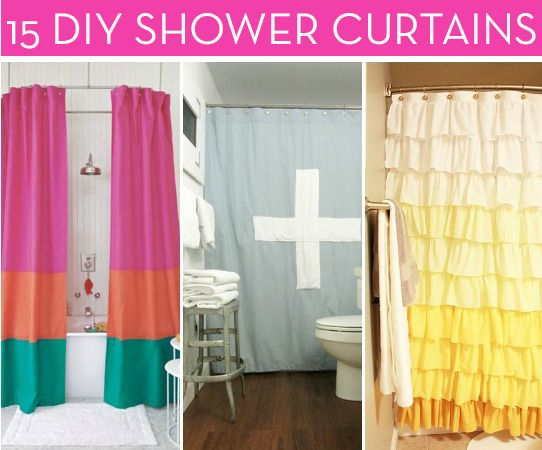 Roundup 15 Statement Shower Curtains That You Can Diy Diy Curtains Diy Shower Diy Shower Curtain