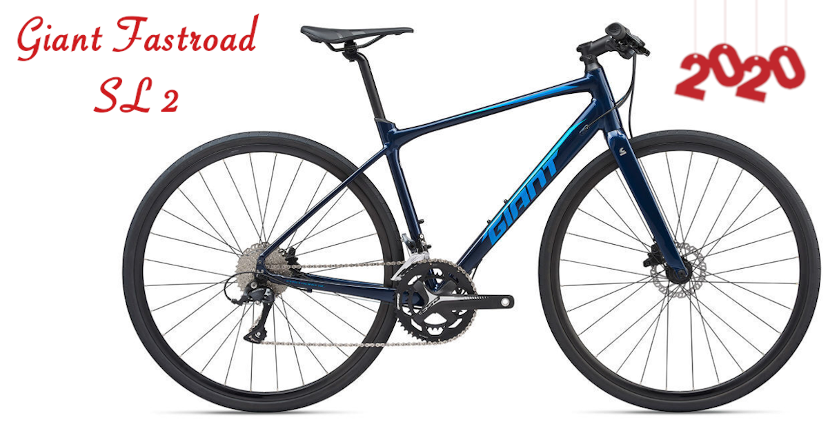 Giant Fastroad Sl 2 2020 This Lightweight Flyer Combines The Sporty Feel Of A Road Bike With The Added Confidence An In 2020 Flat Bar Road Bike Lightweight Bike Bike