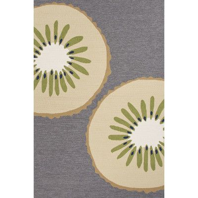 Found it at Wayfair - Grant I-O Gray/Ivory Conversational Indoor/Outdoor Area Rug