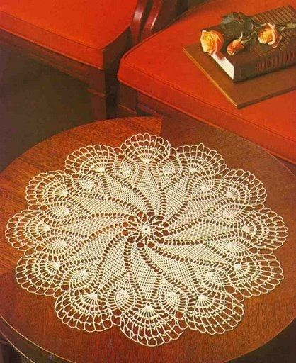 Crochet Table Center \'Whirlwind\'. FREE pattern in English and chart ...