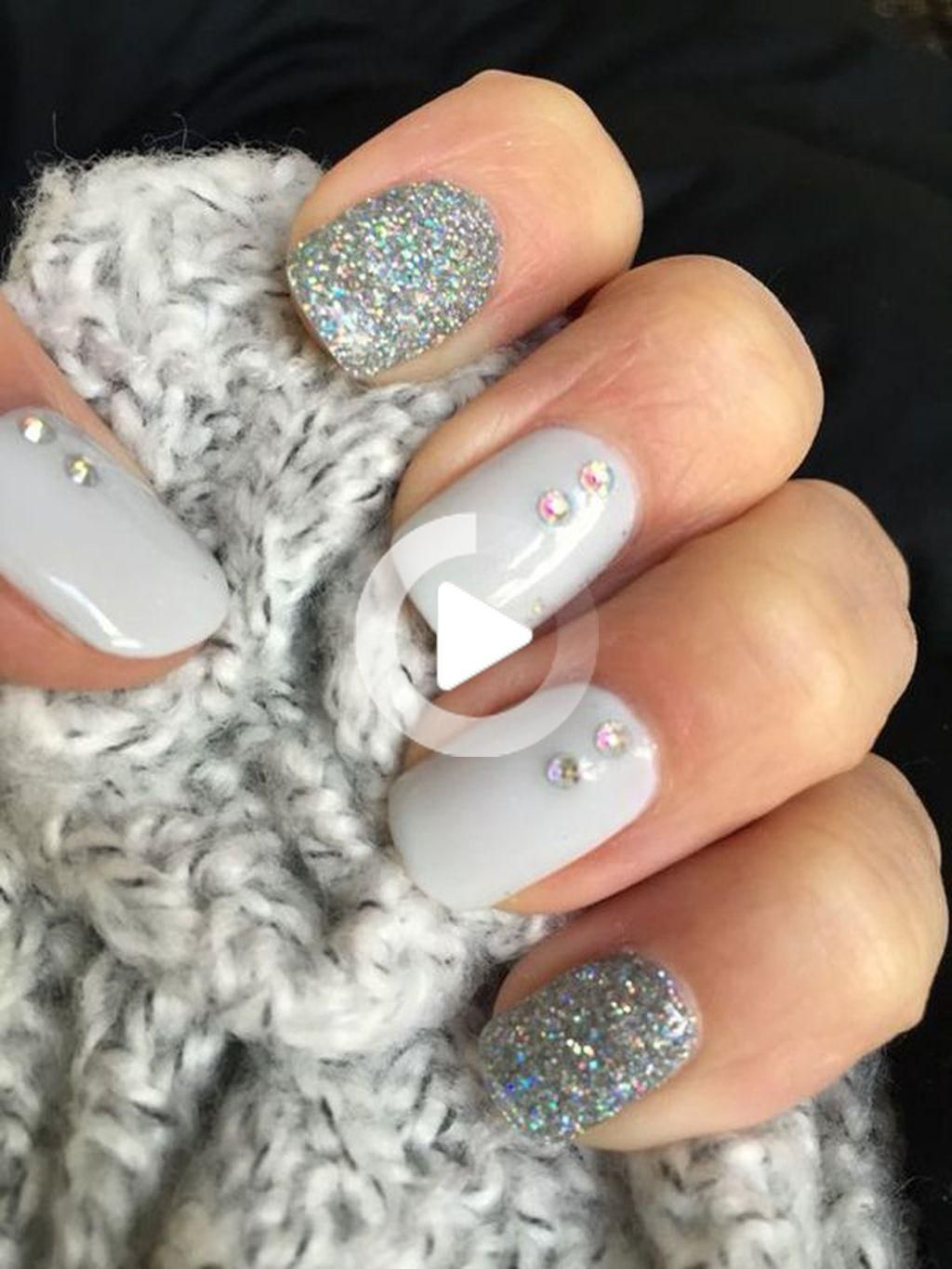 30+ Best Winter Nails Ideas To Wear This Year #nageldesigns grau 30+ Best Winter Nails Ideas To