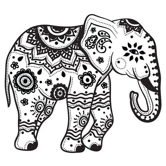 Elephant Picture To Color - Cinebrique