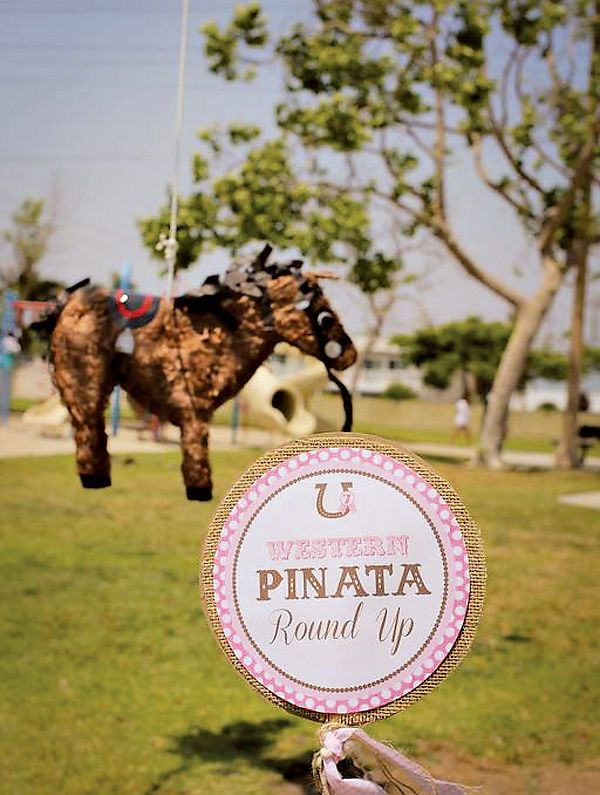 Quot Lucky Rodeo Quot Pink Cowgirl Birthday Party Equestrian