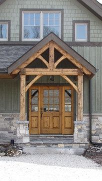 Rustic looking front entry | house | Pinterest | Front entry ...