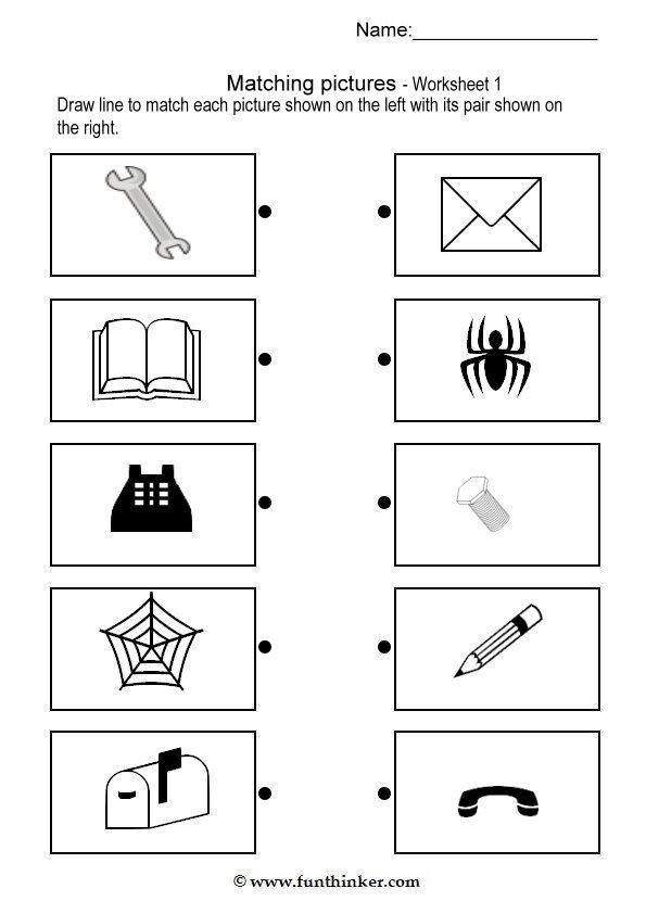 matching pictures | Worksheets, Kindergarten worksheets ... on