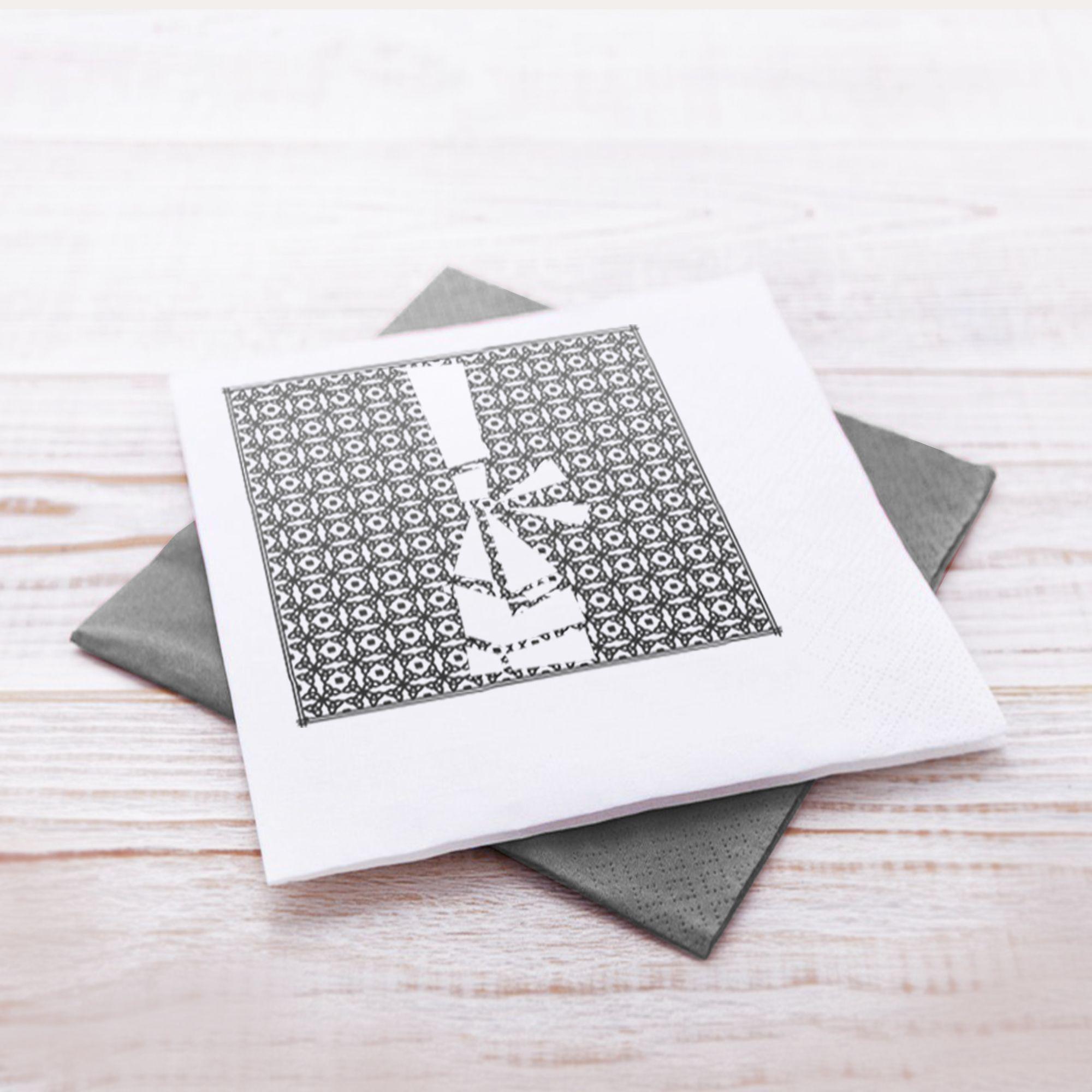 Deco De Table Bretonne serviettes en papier - bigoudèn   serviette papier