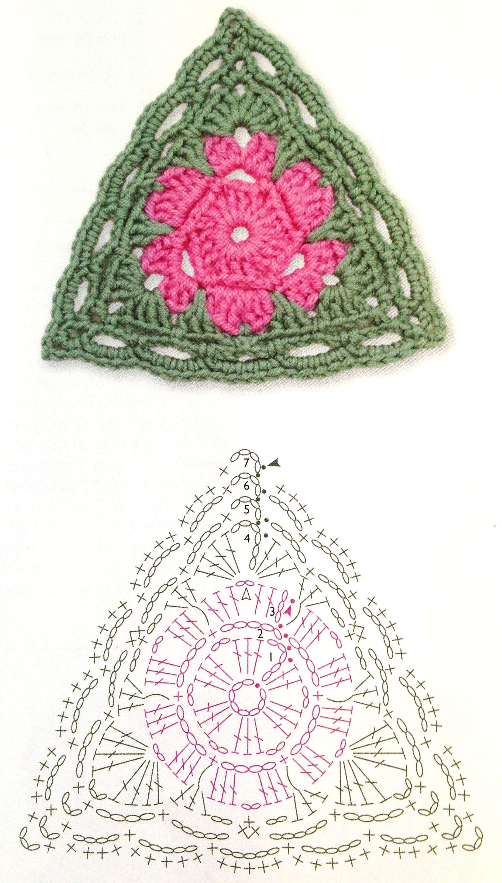 triangle crochet flower pattern | Crochet stuff | Pinterest ...
