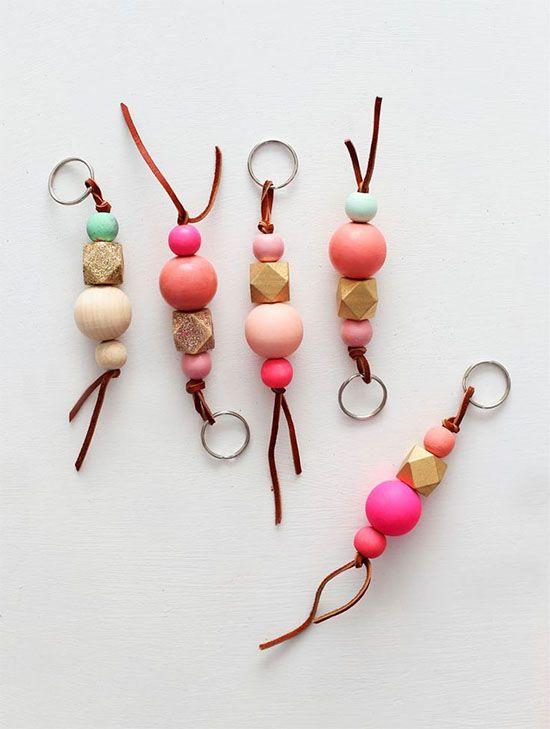 Make  wood bead keychains  a5ed447b8e