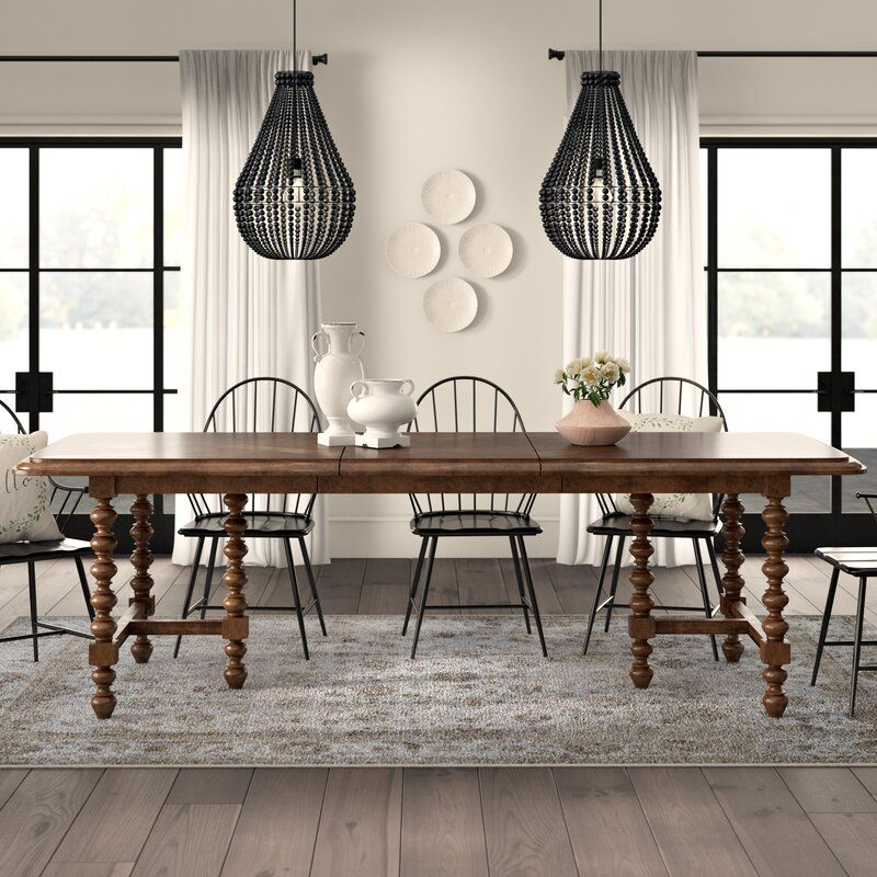 Dogwood Solid Wood Extendable Dining Table Extendable