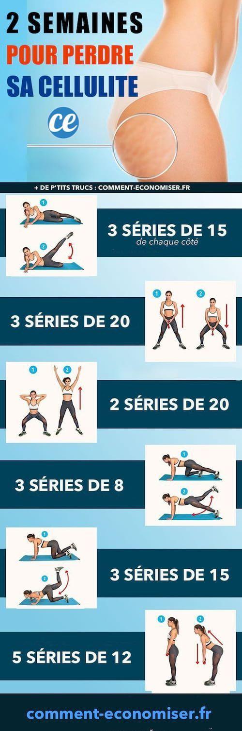6 exercices faciles pour perdre sa cellulite en seulement 2 semaines sport pinterest. Black Bedroom Furniture Sets. Home Design Ideas