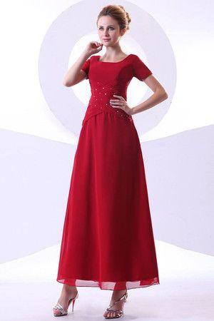 A-Linie kurze Ärmeln Elegantes Brautmutterkleid mit ...