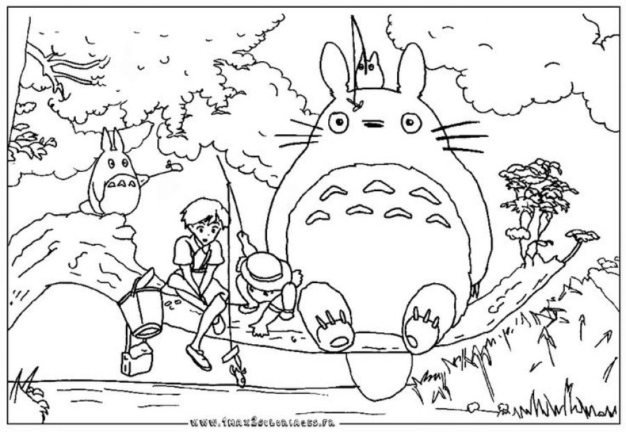 Printable Totoro Coloring Pages For Kids Letscolorit Com Cool Coloring Pages Coloring Pages Totoro Party
