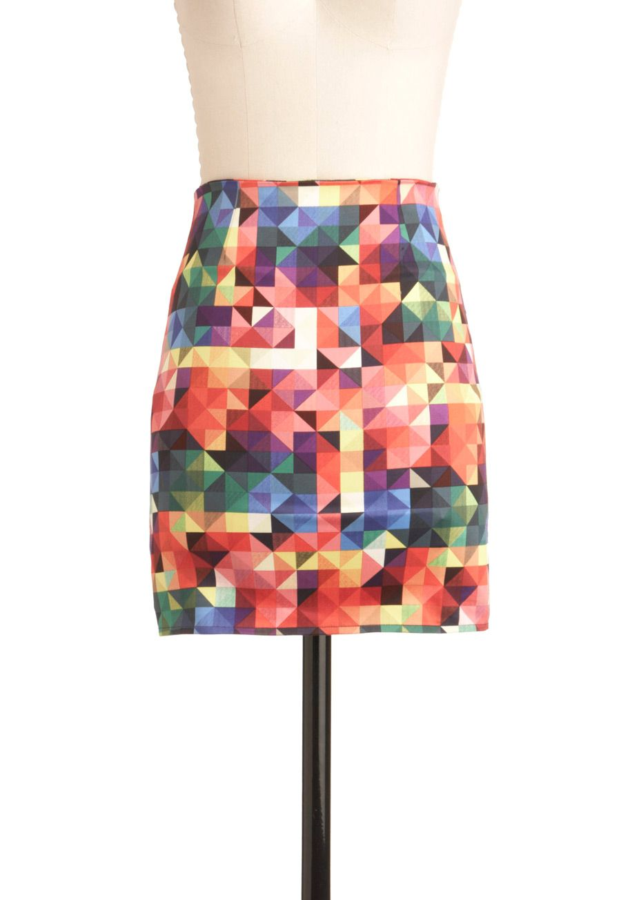 It's a Colorful Life Skirt by Motel