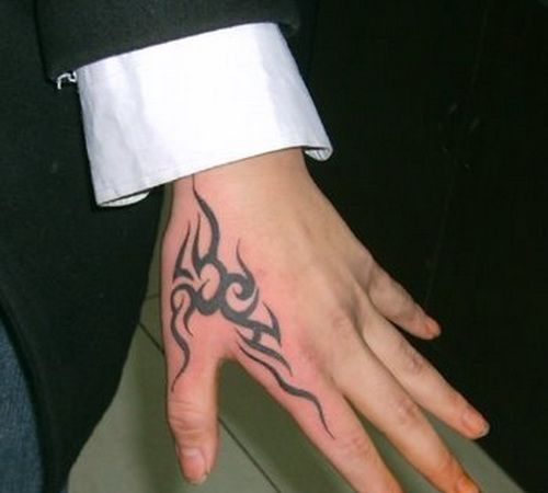 Tribal Hand Tattoos Hand Tattoos For Guys Simple Hand Tattoos Tribal Hand Tattoos