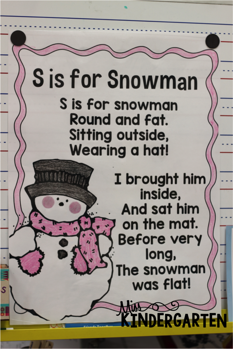 S is for Snowman! - Miss Kindergarten