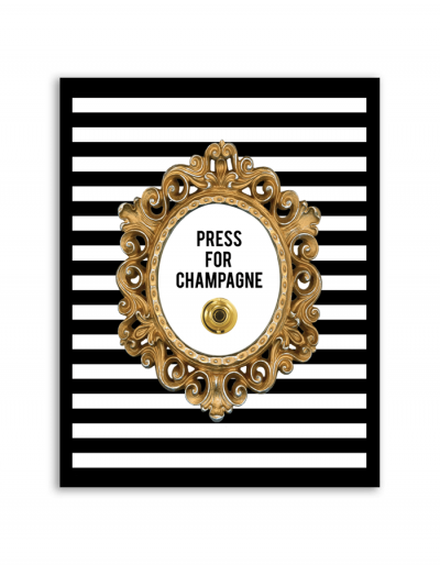 Free Printable Press for Champagne Button Wall Art | DIY