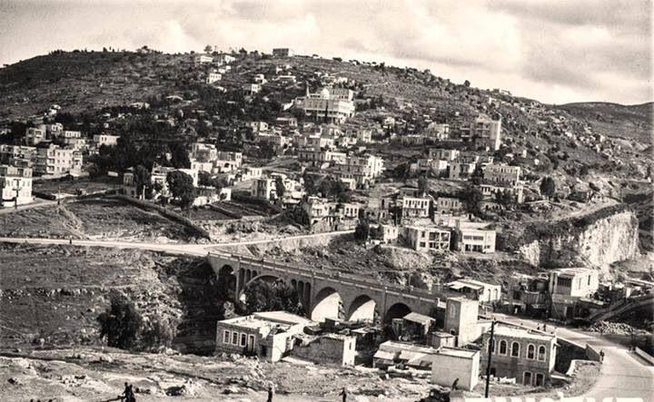 حيفا فلسطين 1938 جسر وادي روشميا الذي ربط بين الهادار بحيفا الشرقية والحليصة تم افتتاح الجسر في شهر ا Palestine History Israel History Israel Palestine