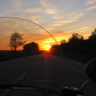 My husband took for a ride to watch the sunset so we headed west. Taken by MouMou