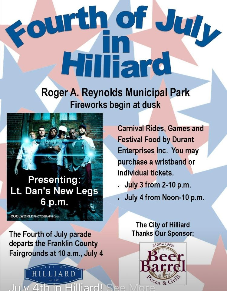 Hilliard 4th of July Events. 4th of july events