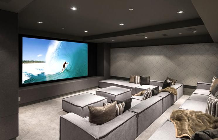 This New Light Filled Home Embraces Its California Contemporary Aesthetic Contemporist Home Cinema Room Home Theater Seating Home Theater Room Design