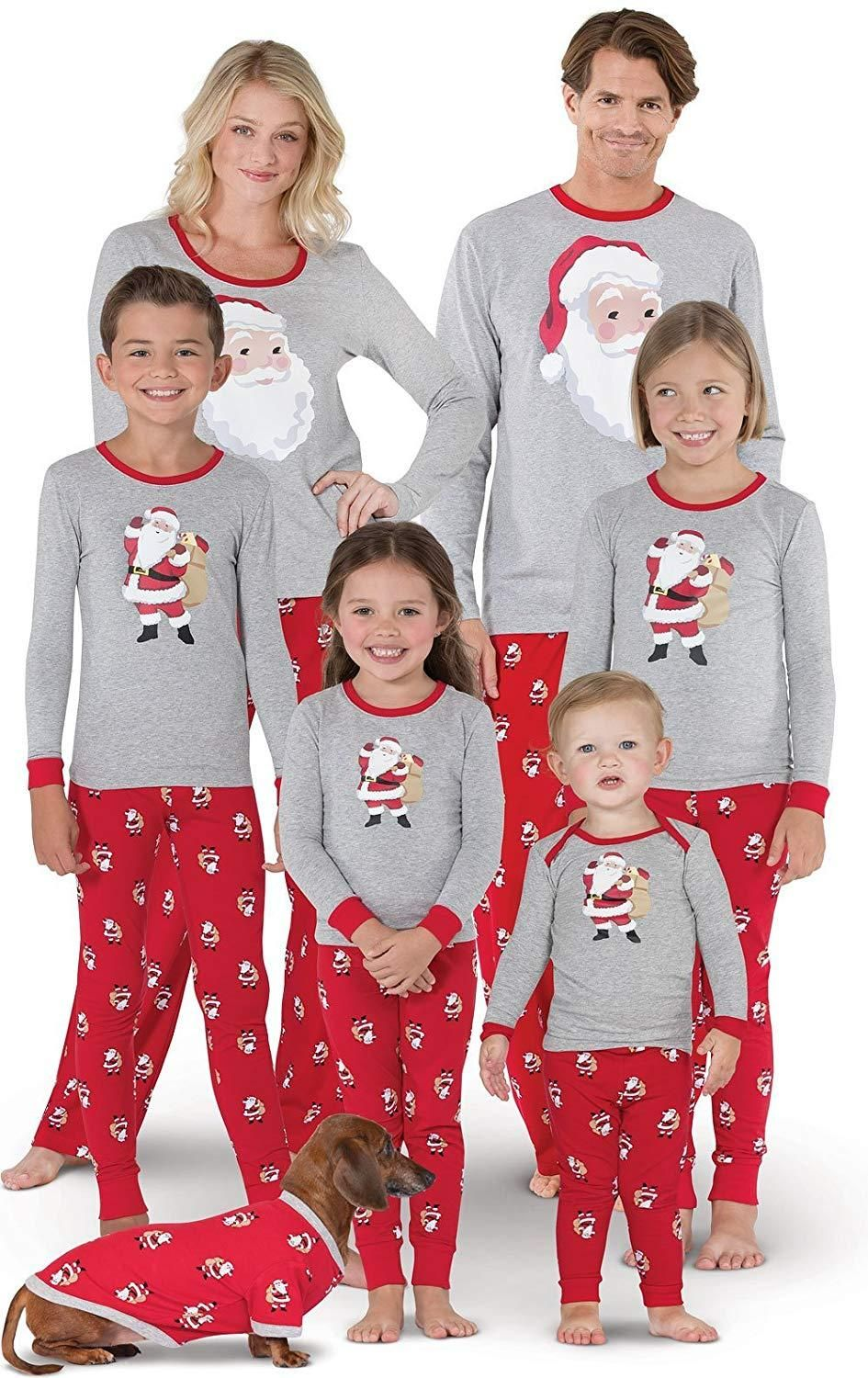 PajamaGram Christmas Pajamas Soft Cotton - St. Nick Christmas PJs ... ebd3ab8c6