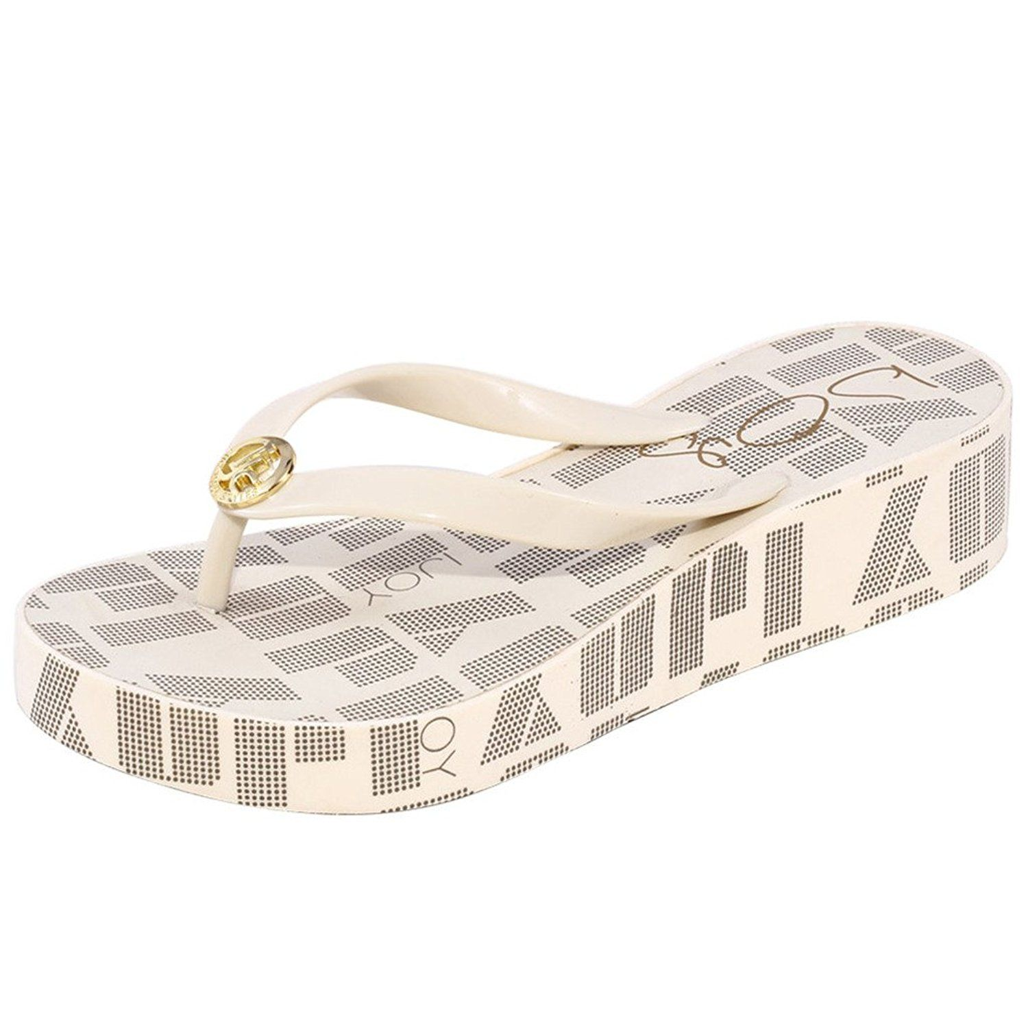 9c0cc69a98cea TS Womens Letter Printed Wedge Sandals Flip Flop     To view further for  this