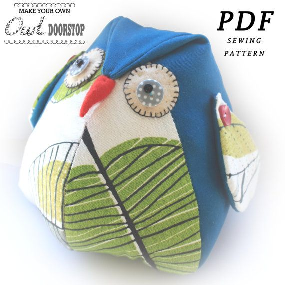 Owl DoorStop PDF Sewing PATTERN by RedRockingBird on Etsy, £4.00 ...
